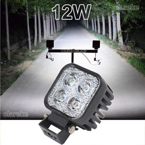 12w 4 Leds Work Light Bulb Car Jeep Boat Suv Atv Offroad Driving Lamp Dc12 24v