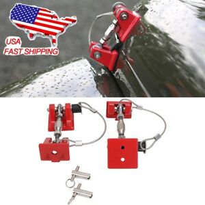 Hood Lock Catch Latch Bracket Latches Hold Down For Jeep Wrangler Unlimited Jk