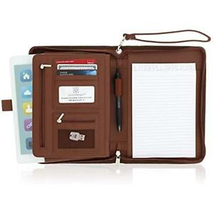Small Zippered Travel Portfolios Business Padfolio With Junior Legal Notepad