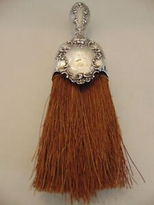 Antique Sterling Silver Clothes Wisk Broom