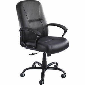Safco Serenity Big Tall Leather Highback Office Chair Model 3500bl