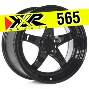 Xxr 565 18x9 5 5 114 3 38 Gloss Black Wheels Set Of 4 Fits Subaru Wrx