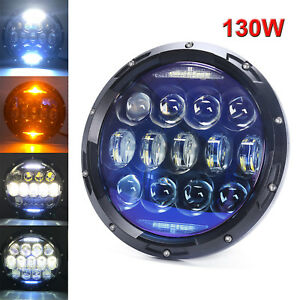 Brightest 7 130w Round Led Headlight For Jeep Wrangler Jk Tj Hummer 10000lm 1pc