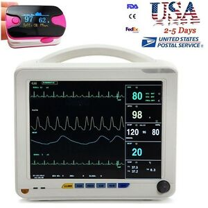 Fda Medical Icu Ccu Patient Monitor 6 Parameter Ecg Nibp Resp Temp Spo2 Pr Gift