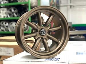 New 15x8 Inch Watanabe Classic Design Wheel Set Of 4 Bronze 4x114 3 Et 5