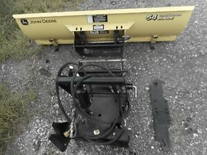 John Deere 2210 Quick Hitch Snow Blade 54 W hitch Assembly
