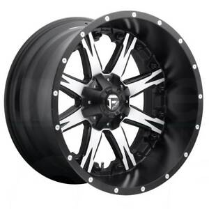 One 20x9 Fuel Nutz D541 8x180 1 Black Machined Wheels Rims