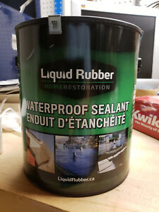 Liquid Rubber Waterproof Sealant Original Black 1 Gallon Safe For Fish Pond