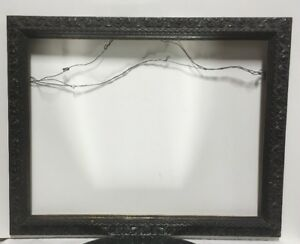 Aesthetic Eastlake Victorian Wood W Lemon Gold Picture Frame Fits 14 1 4 X 19