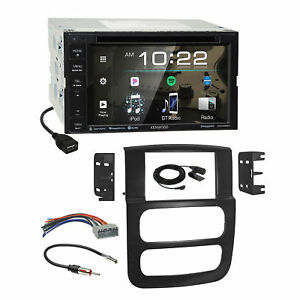 Kenwood Dvd Bluetooth Sirius Stereo Dash Kit Harness For 02 05 Dodge Ram Truck