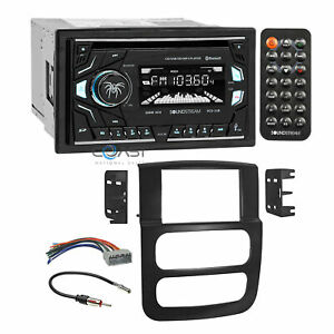 Soundstream 2018 Cd Mp3 Bluetooth Stereo Dash Kit Harness For 02 05 Dodge Ram