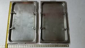 2 Qty Vollrath Locking Steam Table Pan Lids 7000 4 Catering 21 x13 19 5x11 5