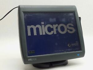 Micros Workstation 5 Pos Restaurant Touch Screen Card Swipe Unit 400814 001