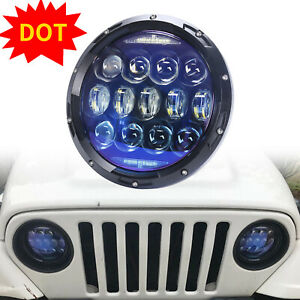 130w 7 Inch Round Led Headlight For Jeep Wrangler Jk Tj Lj Jku Hummer H1 H2 1pc