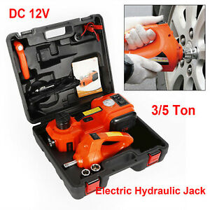 Dc12v 3 5ton Electric Hydraulic Jack With Impack Wrench Car Auto Repair Tool Kit