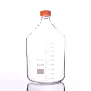 5000ml glass Reagent Bottle screw Cap transparent 5 Litre graduation 4500ml