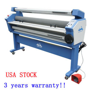 Us Stock 63 Full auto Low Temp Wide Format Cold Laminator With Heat Assisted