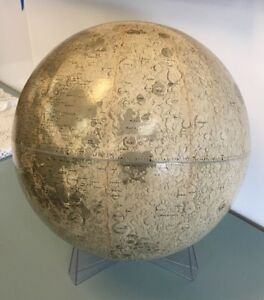 Mid Century Rand Mcnally 12 Lunar Globe With Stand 1969