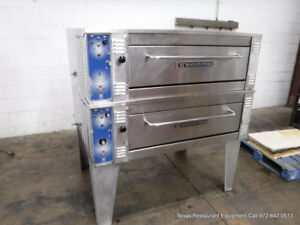 Bakers Pride 55 Wide Eb8 3836 Electric Double Deck Oven On Legs