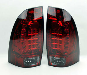 Led Rear Tail Lights Red Smoke Smoked Pair Rh Lh For Toyota Tacoma 05 14