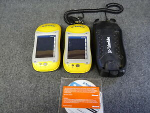 Two Trimble Geoxt Terra Sync 2 40 Charging Cradle Dc Battery Adapter