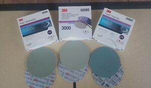 3m 6 Inch Trizact Discs 1000 3000 5000 2 Discs Of Each Grit 6 Sheets Total