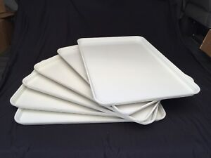 Bakery Display Trays Sheets Pans Molded Fiberglass White 18 wx26 d Case Of 6