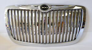Chrome Vertical Front Grill W 300 Badge Fits Chrysler 300 300c 2005 2010
