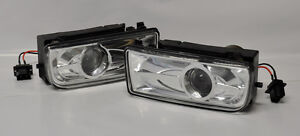 Clear Euro Projector Front Fog Lights Fits Bmw E36 91 99 3 Series Pair Rh Lh