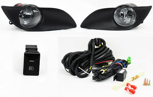 Front Bumper Clear Fog Lights Lamps W Switch For Toyota Yaris 09 11 2 4dr Hatch