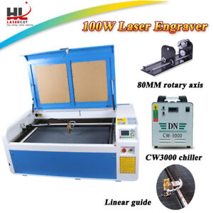 Dsp 100w Laser Engraver Cutter Engraving Cutting Machine Linear Guide 3000