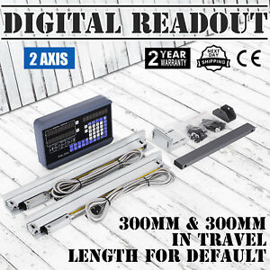2 Axis Digital Readout Dro 2 300mm Linear Scale Zero Clearing Display Grinding