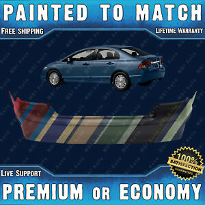 New Painted To Match Rear Bumper Exact Fit For 2006 11 Honda Civic 4door Hybrid