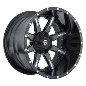 One 20x12 Fuel Nutz D251 8x170 44 Black Milled Wheels Rims
