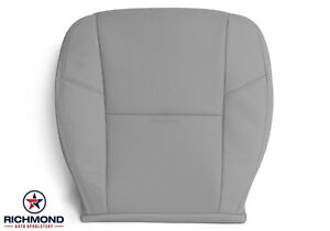 2012 2014 Chevy Silverado Ltz Ac Cool driver Side Bottom Leather Seat Cover Gray