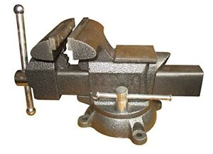 Heavy duty Forged Steel Utility Vise 6 1 2 With 360 degree Swivel Base