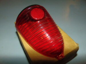 Vintage 1955 Chevrolet Passenger Glo Brite Gb 344 Red Stop And Tail Light Lens