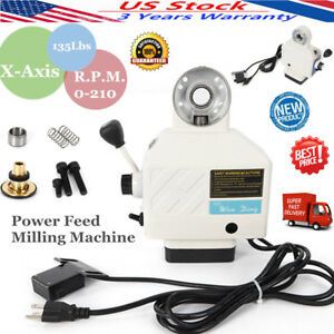 110v X Axis Power Feed Table Milling Machine Fit Bridgeport Type Mill Powerfeed