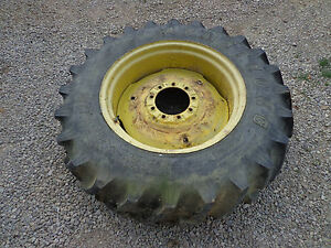 John Deere 40 420 430 Jd3007 Rear Rim Wheel With Good 13 6 28 Tire