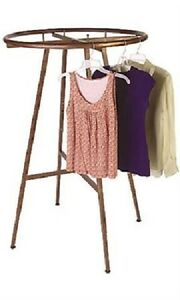 Round Clothing Rack For Boutique Retail Industrial Commercial Cobblestone 36