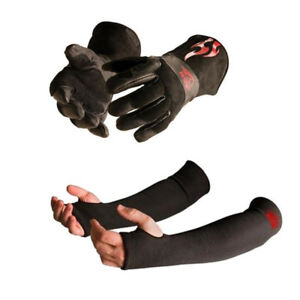 Black Stallion Bsx Bs50 Large Mig Gloves And Protective Sleeve Bundle