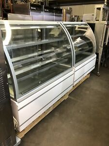Frost Tech Refrigerated Display Case Curved Glass Bakery Equipment 2016 53x33