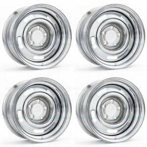 15x7 Vision 57 Rally 5x114 3 6 Chrome Wheels Rims Set 4