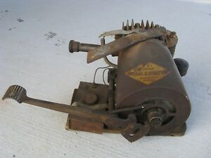Antique Briggs And Stratton Y Stationary Engine Motor Kick Start Parts Repair