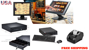 15 Point Of Sale Pos System Register Touch Screen Restaurant Retail Bar Deli