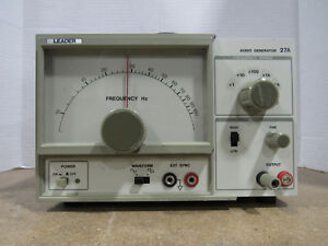 Fully Functioning Genuine Leader 27a Audio Frequency Range Generator X1 X10k