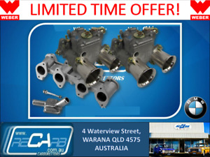 Bmw M10 4 Cyl 1600 2002 Genuine Twin Weber 45 Dcoe Carburettor Set New