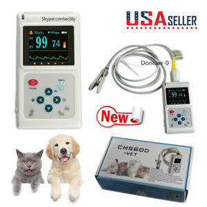 Us Seller Animal Veterinary Pulse Oximeter Cms60d vet tongue Spo2 Probe Software
