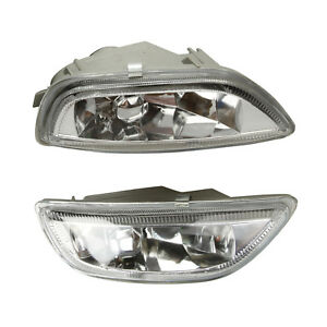 For 2001 2002 Toyota Corolla Front Bumper Glass Fog Lights Lamps Pair Rh Lh