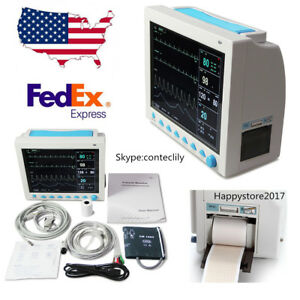 Cms8000 With Printer Icu Patient Monitor 6 parameter 12 1 Vital Sign Ce